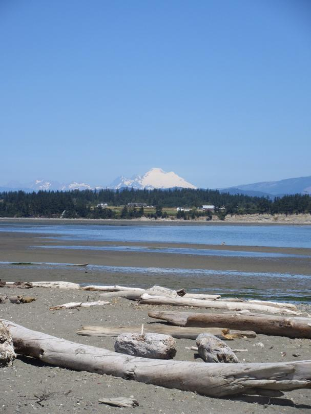 Port Susan Bay with the Cascade Mountains