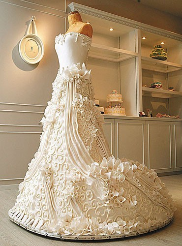 wedding cake dress
