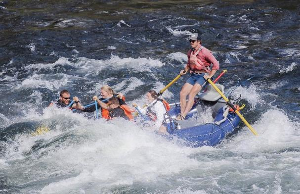 White water rafting with Wiley E Waters
