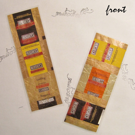 candy wrapper bookmarks