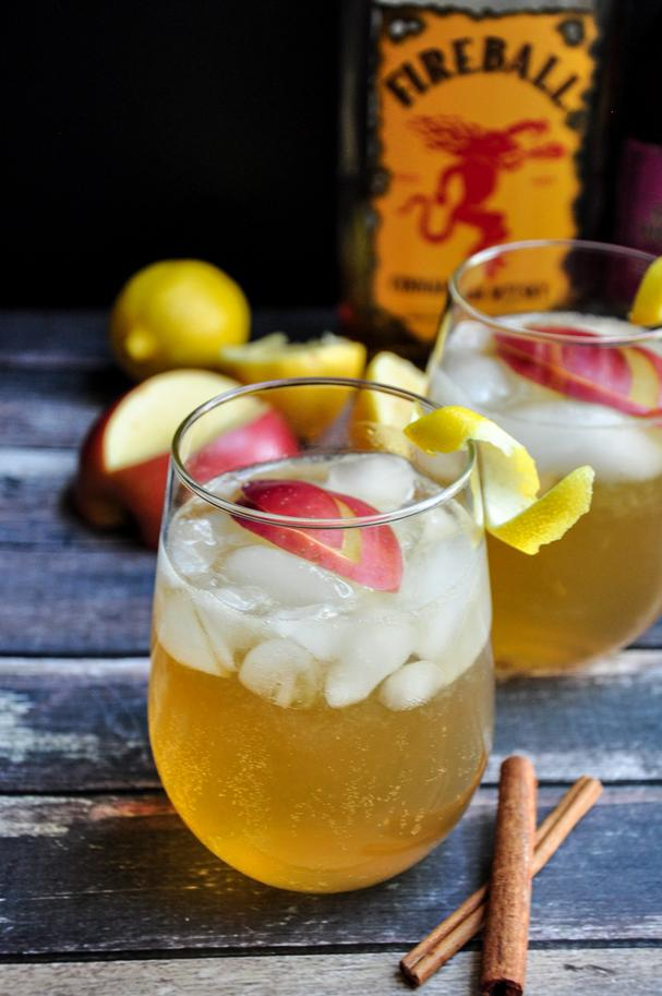 Cinnamon Fireball Cider Whiskey Cocktail