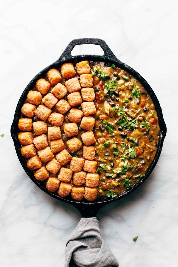 Sweet potato tater tot hot dish