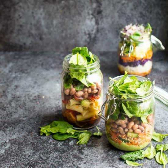 Three Quick Vegan Salad Jar Recipes