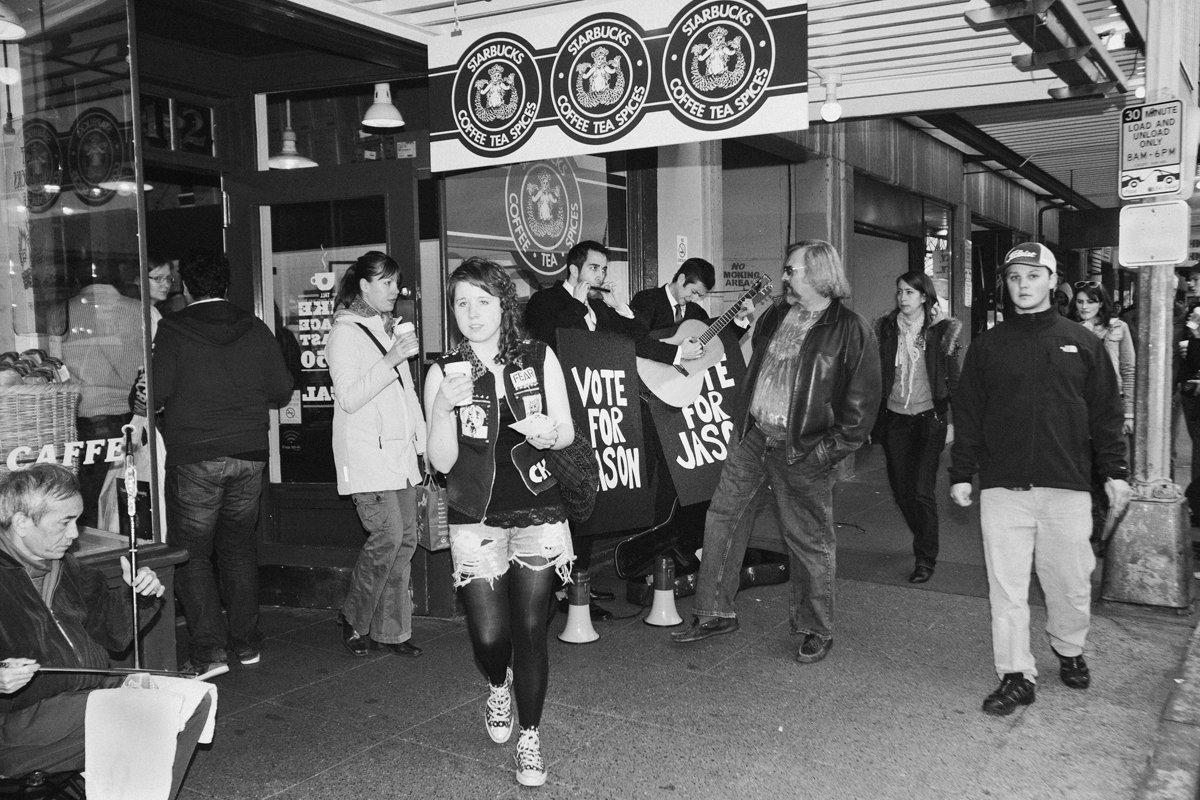 Canlis Outside the Original Starbucks
