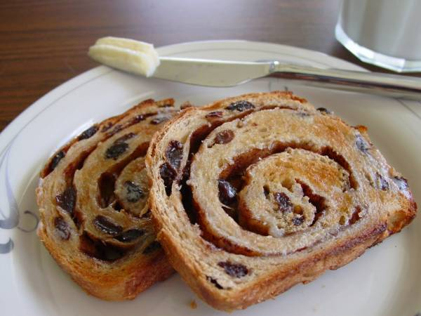 Foodista | All American Baking: Cinnamon Swirl Raisin Bread