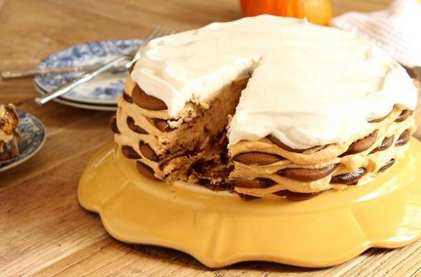 gingersnap pumpkin icebox cake