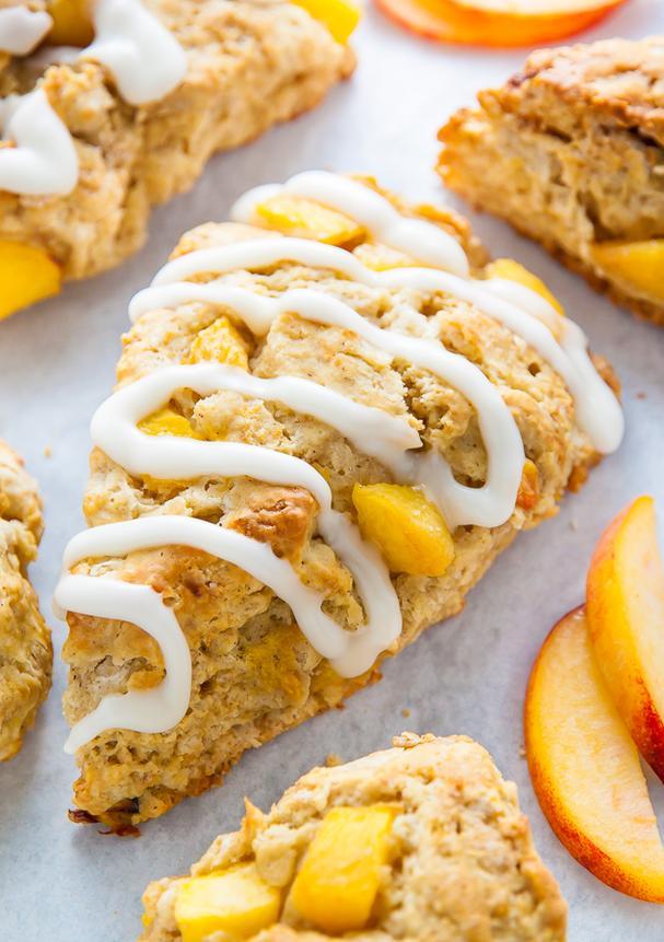 Peaches and cream scones