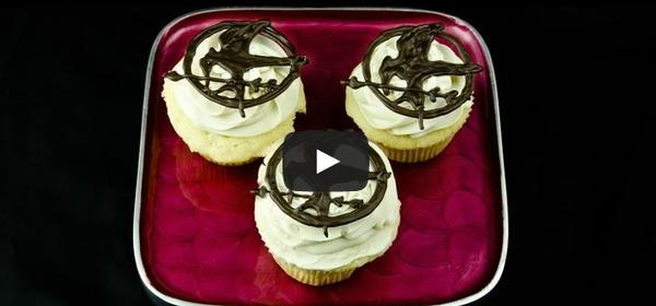 Hunger Games Mockingjay Pin Cupcake Toppers