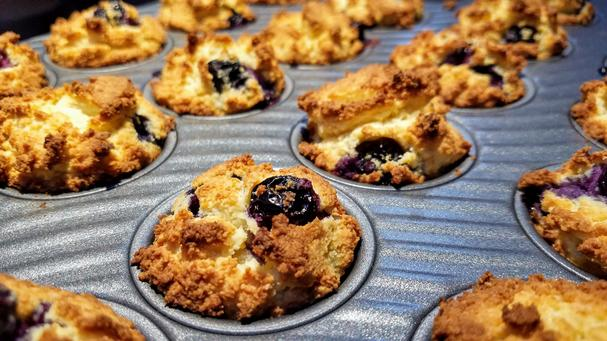 Dr. Axe's Keto Collagen-Boosting Blueberry Muffins