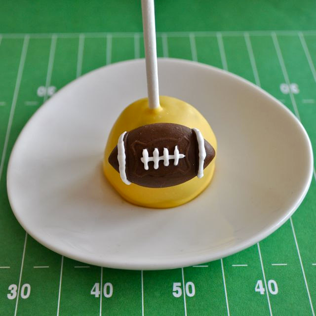 cake pop football toppers
