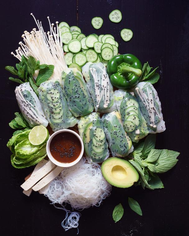 Mint and Tofu Summer Rolls