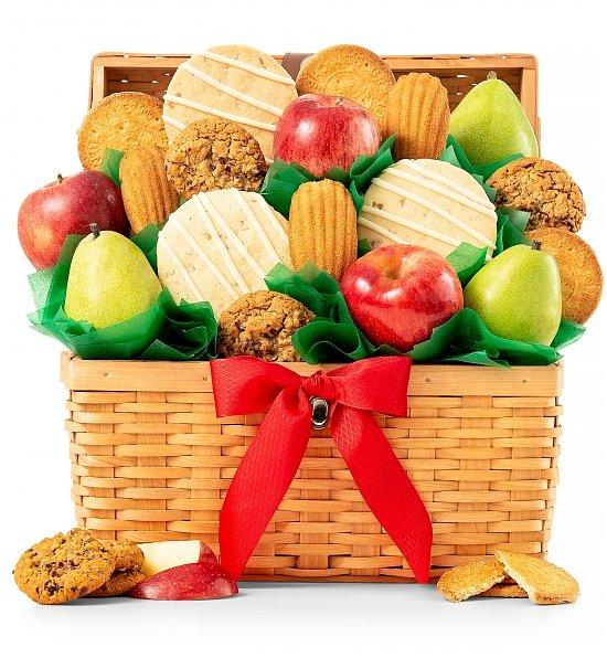 GiftTree Fruit and Cookie Basket
