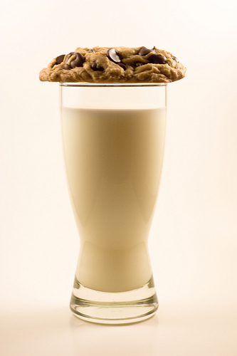 chocolate chip cookies and milk, a marriage made in heaven
