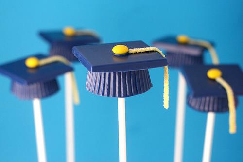 Blue Graduation Cap Candy Cups
