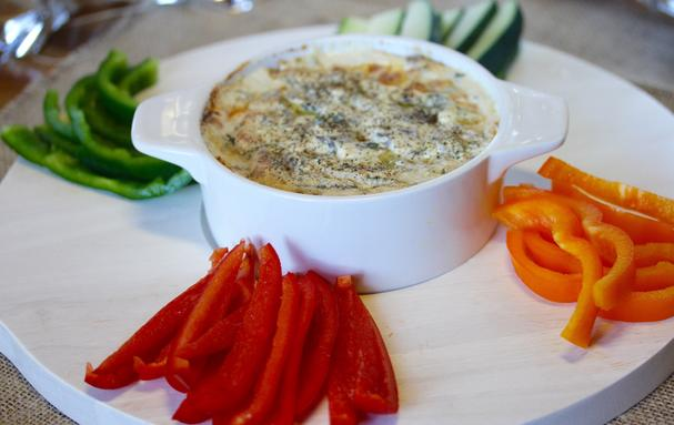 Warm Mushroom Fontina Vegetable Dip
