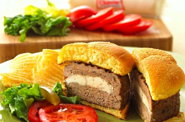 Goat Cheese Stuffed Turkey Burgers