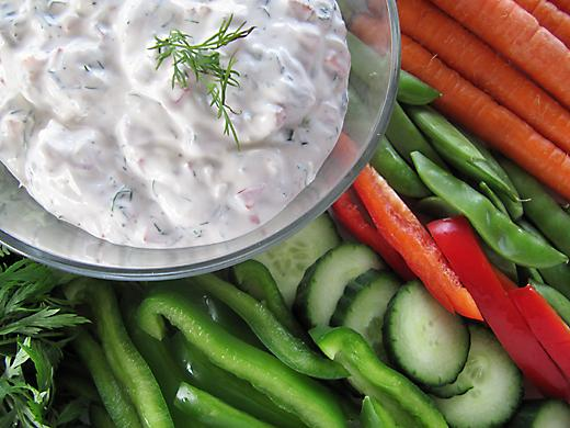 Crunch Lemon-Dill Vegetable Dip