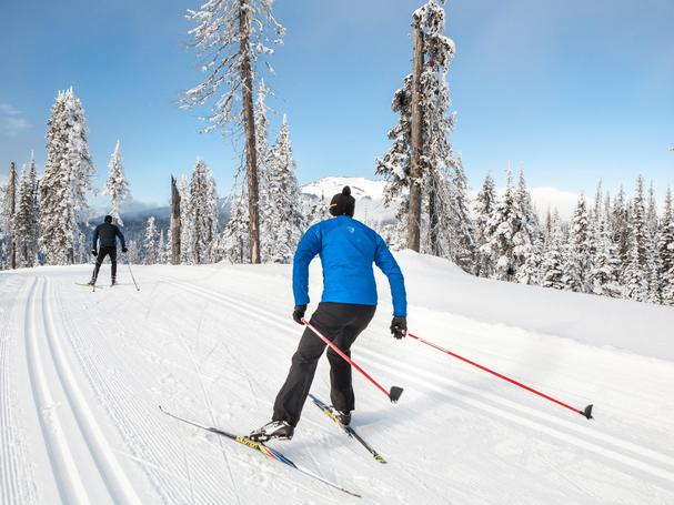 Nordic center skiing