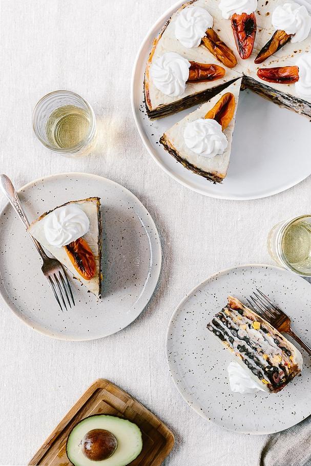 Chicken Quesadilla Cake