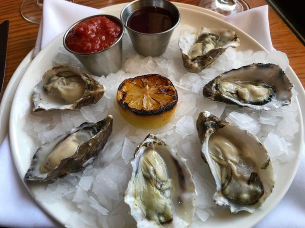 Stanley & Seafort's Steak, Chop & Fish House oysters on the halfshell