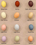 Natural Egg Dye Color Glossary