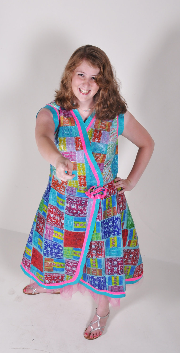 candy wrapper dress