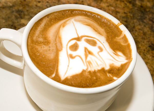 Darth Vader Coffee Art