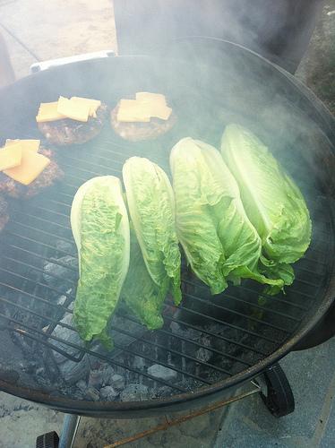 Grilled Caesar Salad Lettuce