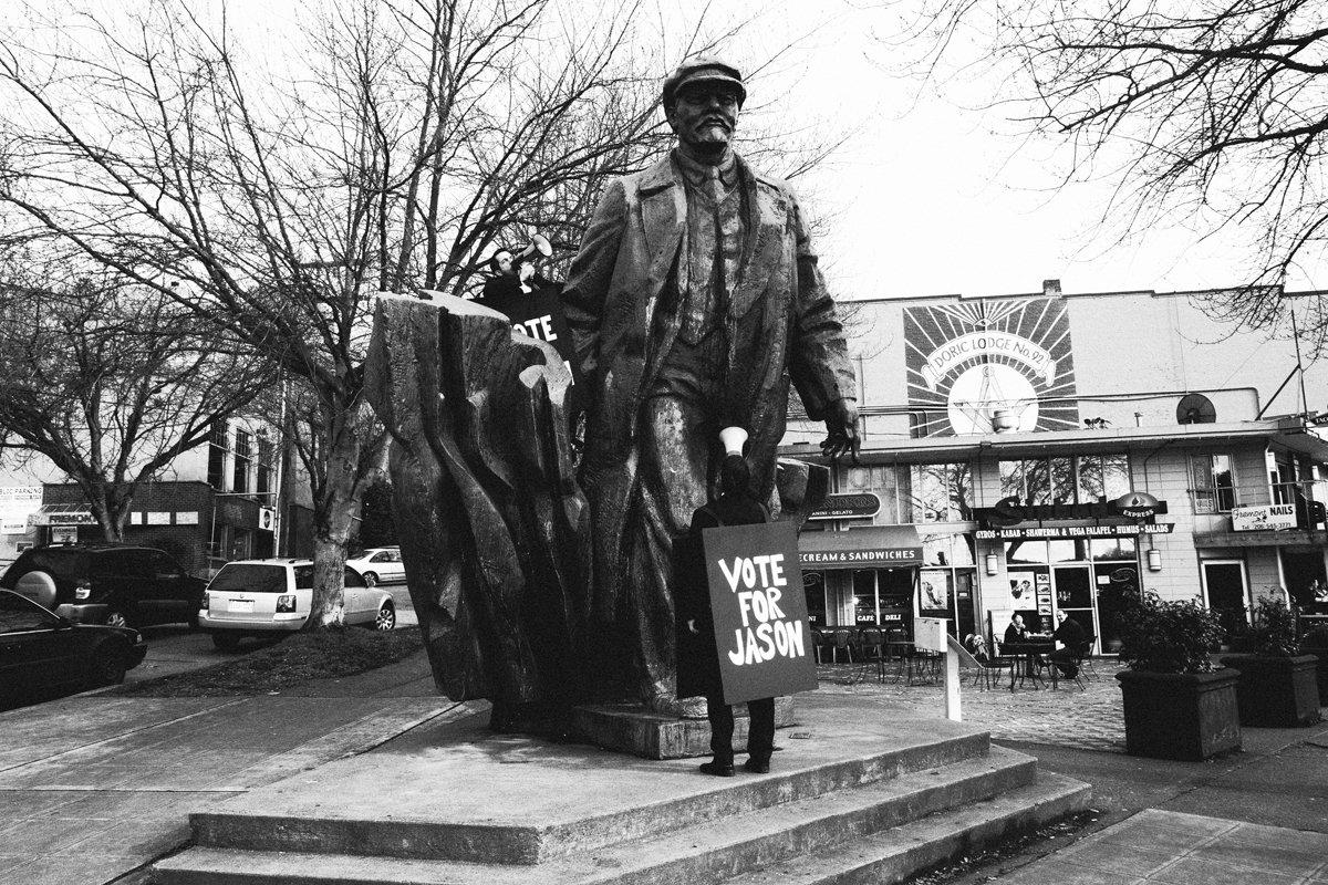 Canlis at the Lenin Statue
