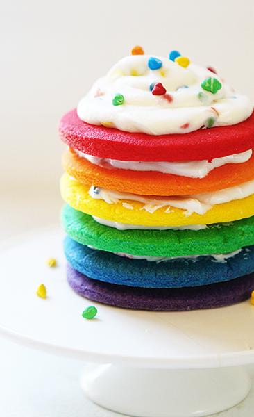 Cooking Rainbow Birthday Cake