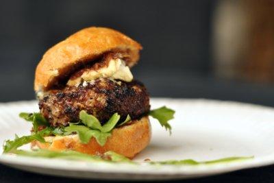 skillet street food wagyu beef burger