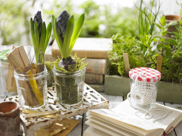 recycled jam jars for gardening