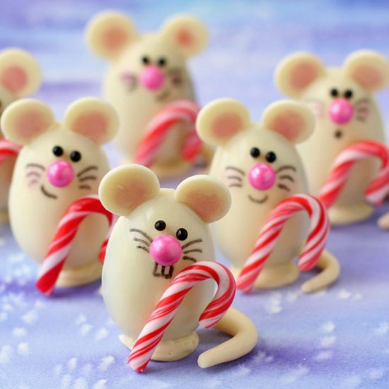 Foodista Triple Chocolate Truffle Christmas Mice And Other Kid