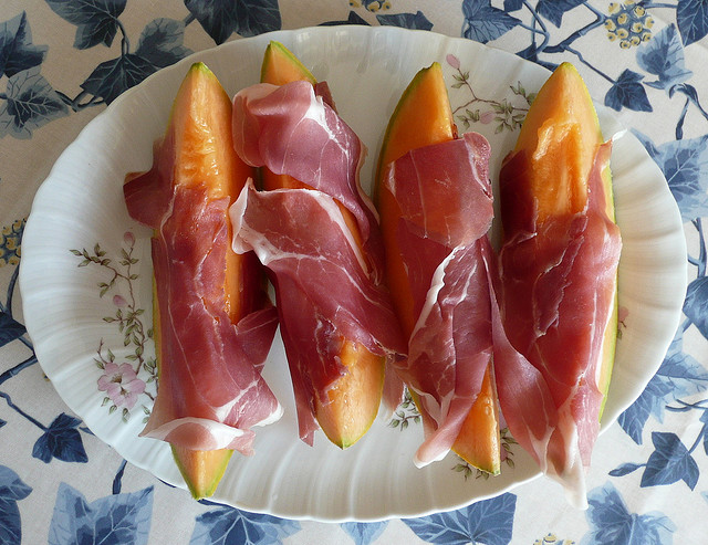 Proscitto Wrapped Melon