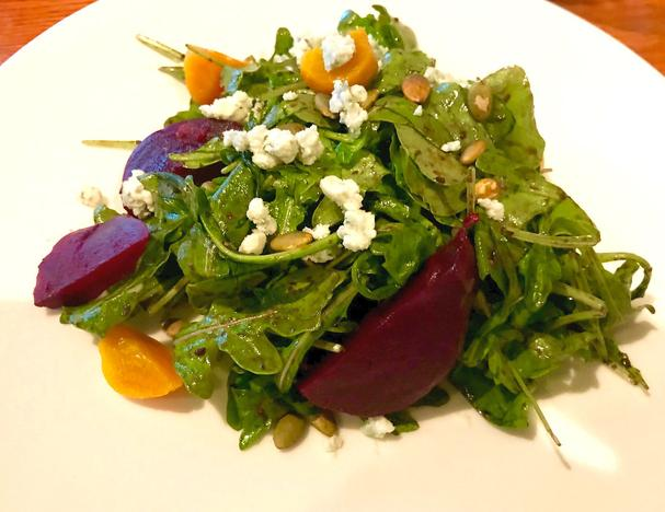 Roasted Beet Salad with Arugula