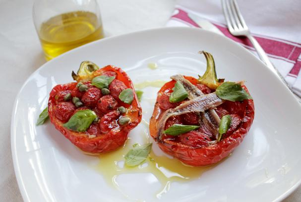 Piemontese Stuffed Red Peppers
