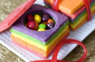 Surprise Reveal Rainbow Birthday Cake