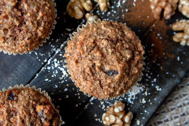 Carrot Apple Oat Bran Muffins