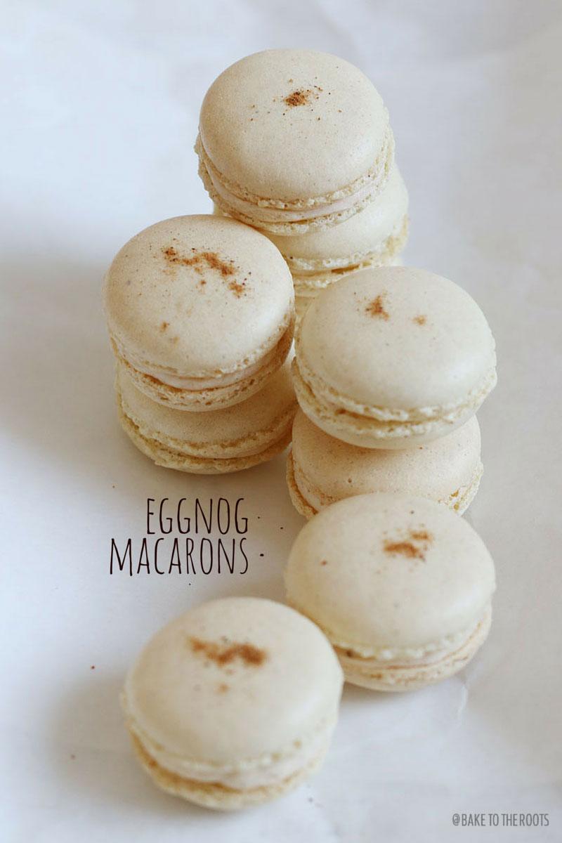 Candy Cane Macarons & Eggnog Macarons Recipe — Dishmaps