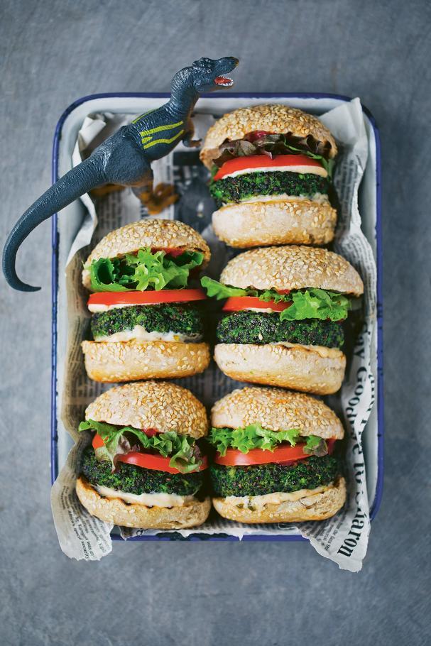 Vegetarian Dino Burgers