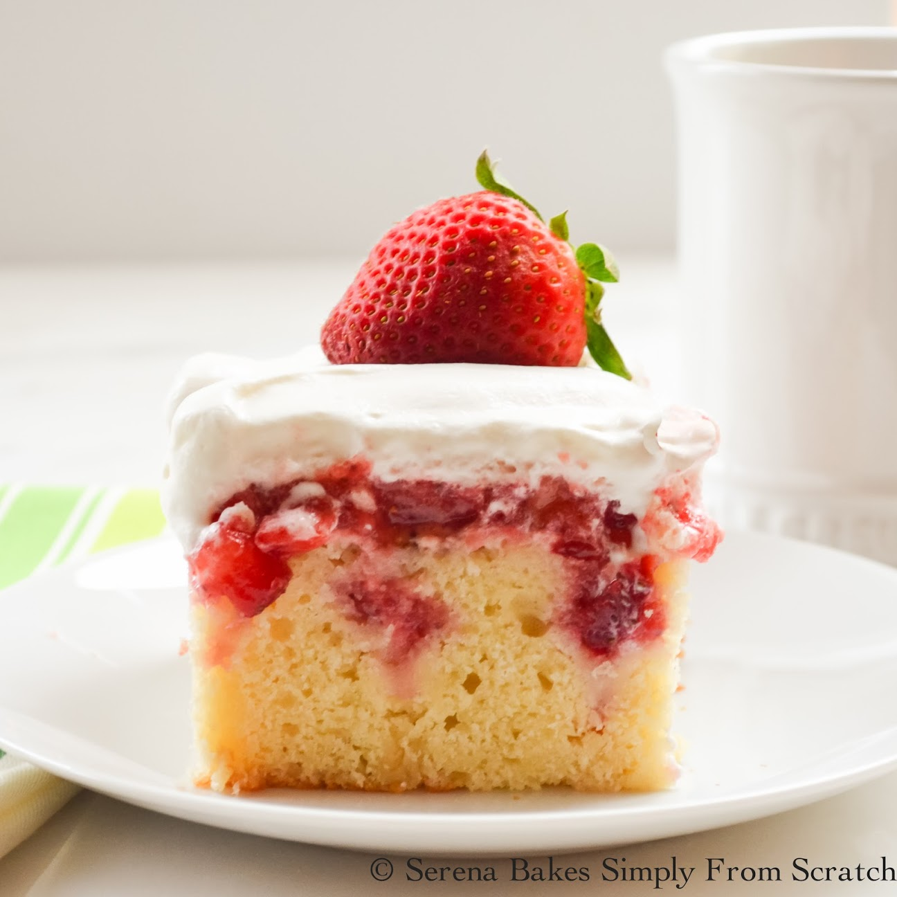 Strawberry Cake With Jello And Fresh Strawberries