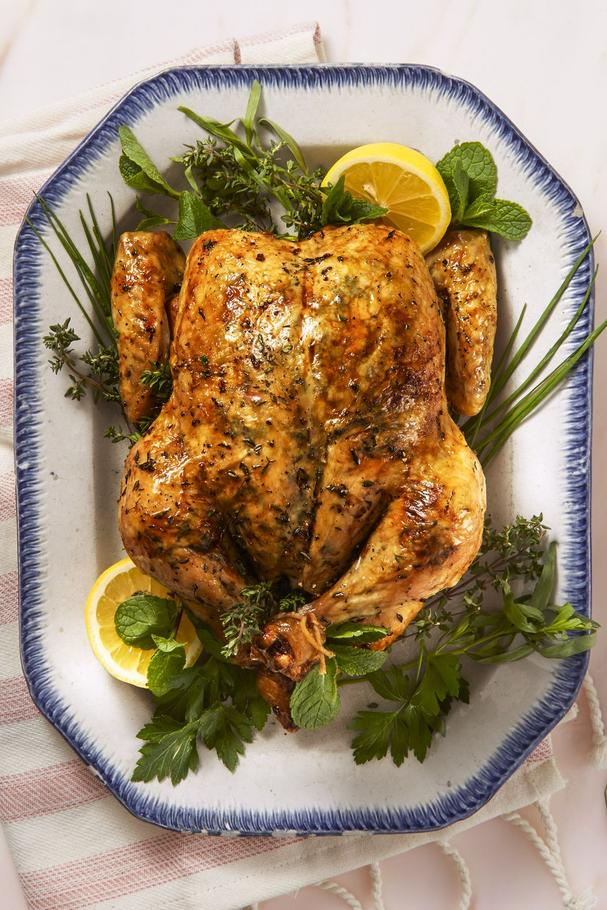Lemony Herb-roasted chicken