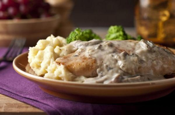 Chicken with Creamy Sherry Mushroom Sauce