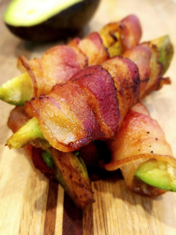 Keto Bacon-Wrapped Avocado