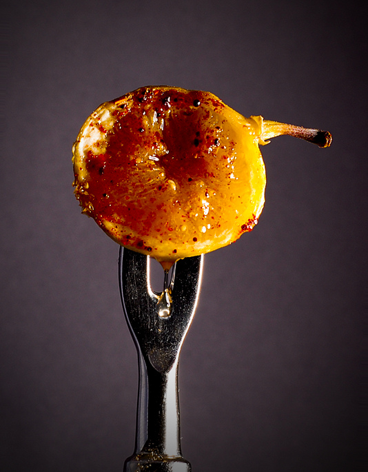 honey drizzled grilled fig