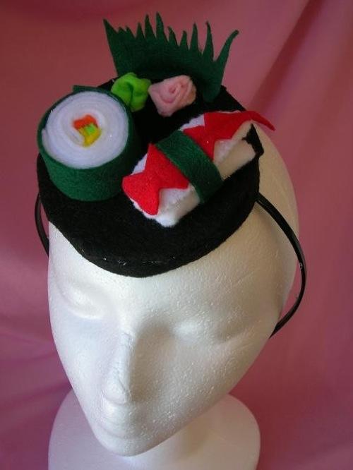 Sushi Pillbox Hat