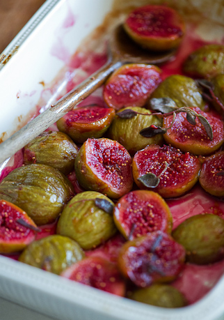 roasted figs with red wine and sage -- Todd Porter and Diane Cu, White on Rice