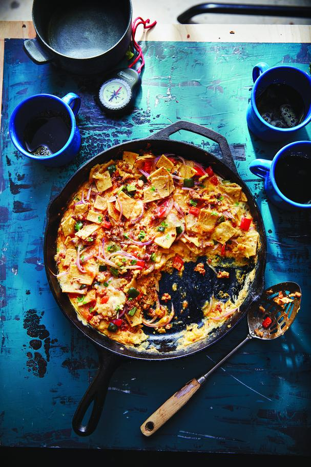 SOUTHWEST CHILAQUILES SKILLET BREAKFAST