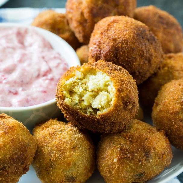 Deep fried stuffing balls