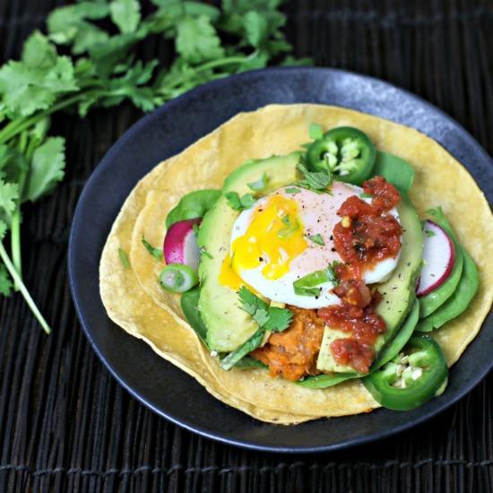 Sweet Potato and Bean Breakfast Tacos